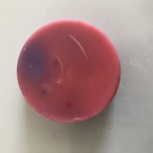 pink and purple wax melt