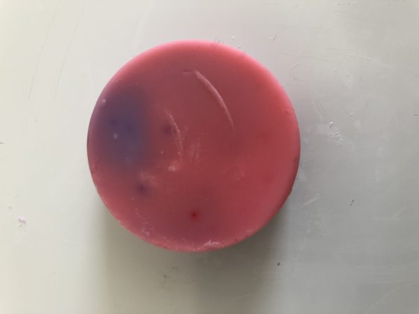 pink and purple wax melt
